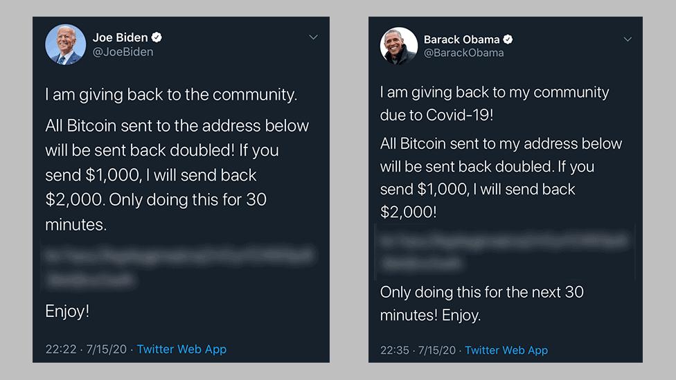 Scam berichten Twitter hack