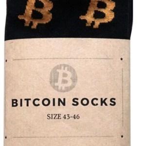 Bitcoin Sokken Zwart Oranje - Crypto Sokken - Heren Sokken - Sokken Zwart - Maat 43 - 46