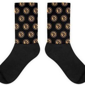 Bitcoin sokken logo - Zwart/Geel